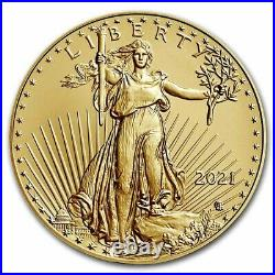 Pre-Sale 2021 1 oz American Gold Eagle MS-70 PCGS (Type 2)