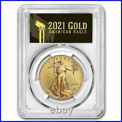 Pre-Sale 2021 1 oz Gold Eagle MS-70 PCGS (FDI, Black Label, Type 2)
