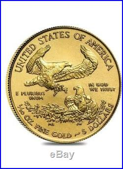 Pre Sale Lot Of 5 1/10 oz Gold American Eagle $5 Coin
