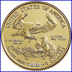 Presale 2020 $5 American Gold Eagle 1/10 oz Brilliant Uncirculated