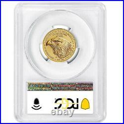Presale 2021 $10 Type 2 American Gold Eagle 1/4 oz. PCGS MS70 FDOI Flag Label