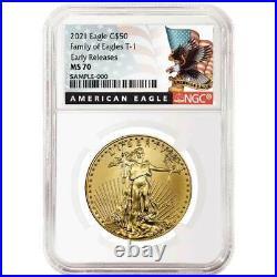 Presale 2021 $50 American Gold Eagle 1 oz. NGC MS70 Black ER Label