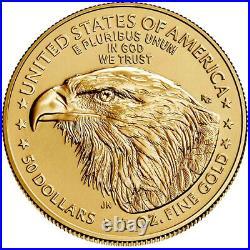 Presale 2021 $50 Type 2 American Gold Eagle 1 oz Brilliant Uncirculated