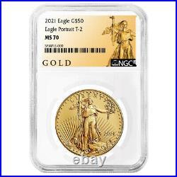Presale- 2021 $50 Type 2 American Gold Eagle 1 oz. NGC MS70 ALS Label