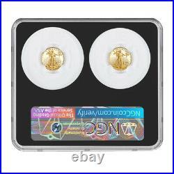 Presale 2021-W Proof T1 and T2 American Eagle 1/10 oz Gold Set Designer Editi