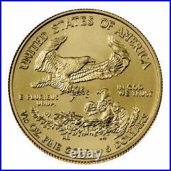 Presale Lot of 10 2021 $5 American Gold Eagle 1/10 oz Brilliant Uncirculated
