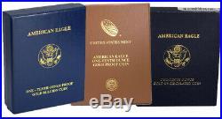Random Year $5 1/10th oz Proof Gold American Eagle Box & COA