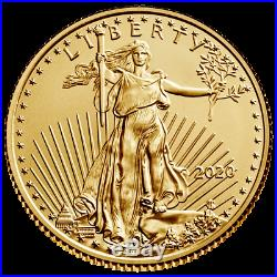 USA 10 Dollar 2020 American Gold Eagle Anlagemünze 1/4 Oz Gold ST