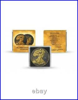 USA 2021 1$ Liberty American Eagle Golden Ring 1 Oz Silver Coin
