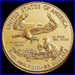 USA 25 Dollar 2020 American Gold Eagle Anlagemünze 1/2 Oz Gold ST