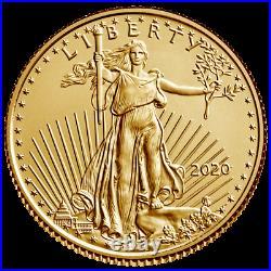 USA 5 Dollar 2020 American Gold Eagle Anlagemünze 1/10 Oz Gold ST