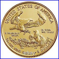 USA 5 Dollar 2021 American Gold Eagle Anlagemünze 1/10 Oz Gold ST