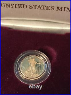 US Mint 2019 American Eagle 1/10th oz Gold Proof Coin Saint-Gaudens + Box COA