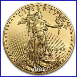 XMAS- 2020 $5 GOLD AMERICAN EAGLE GEM COIN (1/10th OZ) -CAPSULE- $258.88