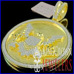Yellow Gold Silver Seal US President American Eagle Pendant Simu Diamond Charm